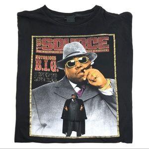 Vintage Notorious BIG The Source T Shirt Rap Tee
